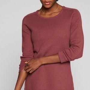 Athleta Thermal Honeycomb Sweater Maroon